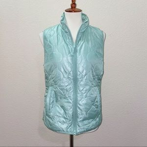 J. Crew Quilted Layering Vest Teal Size Medium